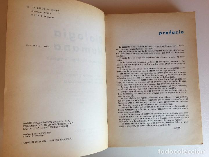 Libros de segunda mano: BIOLOGÍA HUMANA (Anatomía, fisiología e higiene) - Foto 2 - 98137439