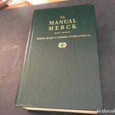 Libros de segunda mano: MANUAL MERCK DE DIAGNOSTICO Y TERAPEUTICA (LB33). Lote 98769519