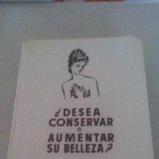 Libros de segunda mano: ¿DESEA CONSERVAR O AUMENTAR SU BELLEZA? - ANA BROJOWSKA - CUIDADOS DE LA MUJER.. Lote 99430123