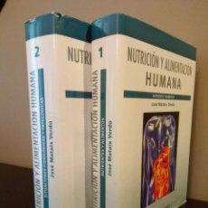 Libros de segunda mano: NUTRICION Y ALIMENTACION HUMANA - DOS VOLÚMENES - JOSE MATIAS VERDU.. Lote 99647723