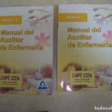 Libros de segunda mano: MANUAL AUXILIAR EFERMERÍA. 2 TOMOS.MÓDULO 1 Y 2. MAD, EDITORIAL OPOSITOR. 2009. CON 6 DVD. Lote 99960535