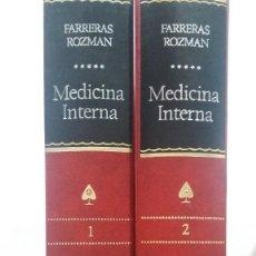 Libros de segunda mano: MEDICINA INTERNA - 2 TOMOS. CIRIL ROZMAN ( DIRIGIDA). ISBN: 8471029804. Lote 100003887