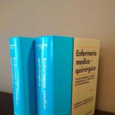 Libros de segunda mano: ENFERMERIA MEDICO-QUIRURGICA-PLANTEAMIENTO PARA MEJORAR EL PROCESO EN ENFERMERIA-IGNATAVICIUS & BAYN. Lote 100059679