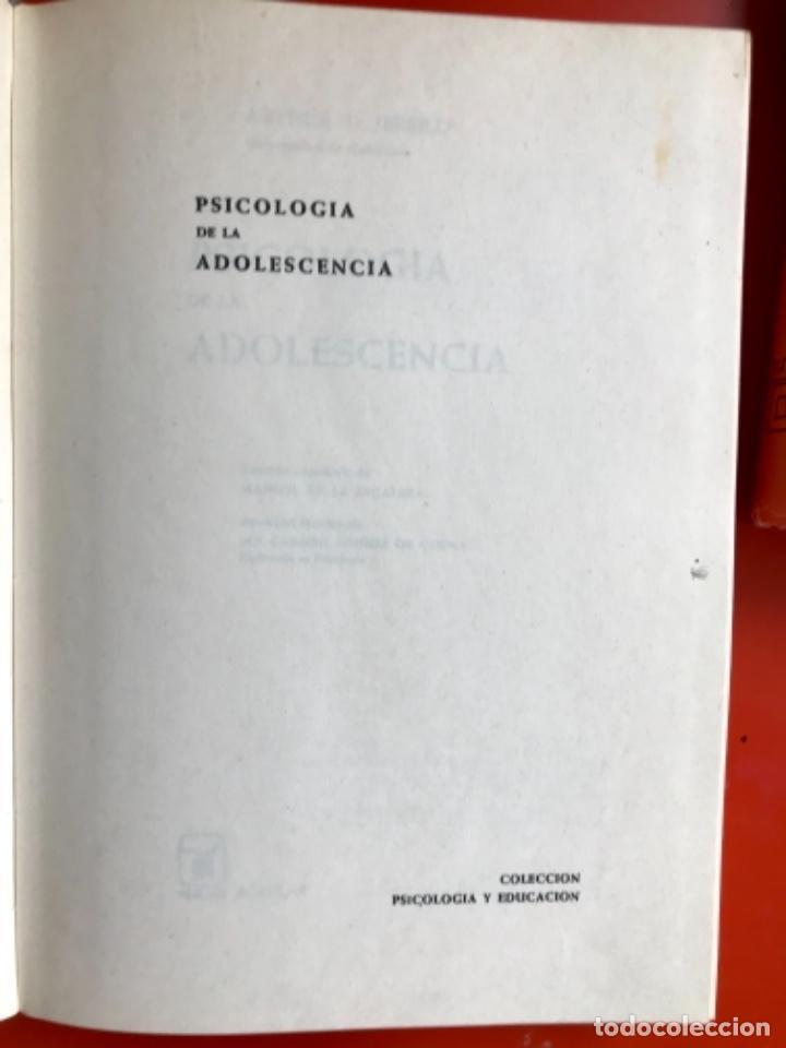 Libros de segunda mano: Psicología fisiológica clifford morgan 1973 psicología de la adolescencia jersild 1972 1 edición - Foto 5 - 100718819