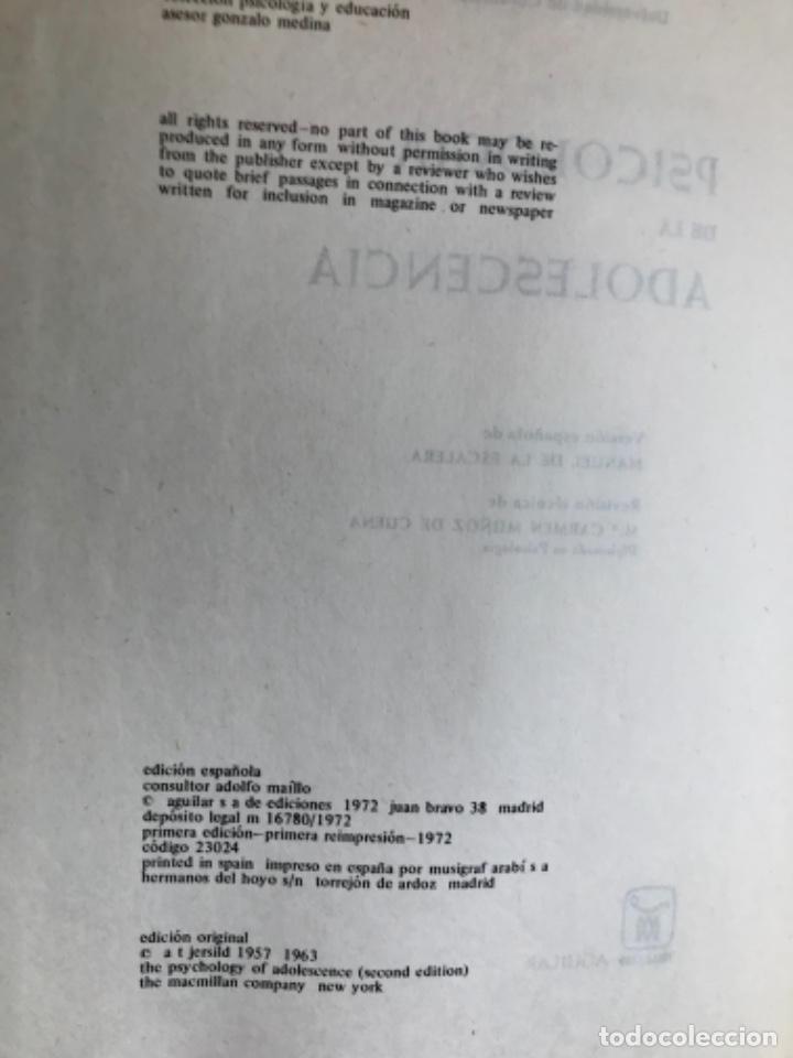 Libros de segunda mano: Psicología fisiológica clifford morgan 1973 psicología de la adolescencia jersild 1972 1 edición - Foto 6 - 100718819