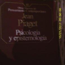 Libros de segunda mano: LIBRO Nº 976 PSICOLOGIA Y EPISTEMOLOGIA. Lote 101161427