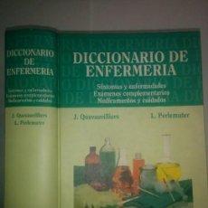 Libros de segunda mano: DICCIONARIO DE ENFERMERÍA 1996 J. QUEVAUVILLIERS / L. PERLEMUTER 1ª EDICIÓN MASSON. Lote 101388411