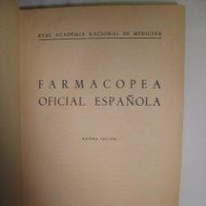 Libros de segunda mano: FARMACOPEA OFICIAL ESPAÑOLA 9ª EDICION. Lote 102000939