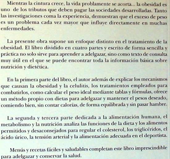 Libros de segunda mano: ADELGAZAR COMIENDO BIEN - DIETAS: INTERFERENCIAL / ROC / 4D - A. SÁNCHEZ CALDERÓN - VER INDICE - Foto 2 - 210835692