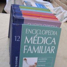 Libros de segunda mano: ENCICLOPEDIA MEDICO FAMILIAR. COMPLETA. 12 LIBROS.. Lote 103088079