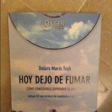 Libros de segunda mano: HOY DEJO DE FUMAR. COMO CONSEGUIRLO SUPERANDO LA ANSIEDAD (DOLORS MARIN TUYA) INCLUYE CD. Lote 103357891