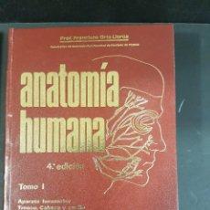 Libros de segunda mano: ANATOMÍA HUMANA.TOMO 1. 4ª EDICIÓN.PROF.ORTS. Lote 103625227