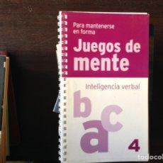 Libros de segunda mano: JUEGOS DE MENTE. INTELIGENCIA VERBAL. Lote 103895968