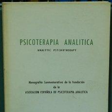 Libros de segunda mano: PSICOTERAPIA ANALÍTICA, MONOGRAFÍA. Lote 104395255