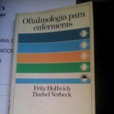 Libros de segunda mano: OFTALMOLOGIA PARA ENFERMERAS. Lote 104579311
