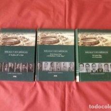 Libros de segunda mano: MÁLAGA Y SUS MÉDICOS (OBRA COMPLETA EN TRES TOMOS) - GABRIEL PRADOS CARMONA. Lote 206911950