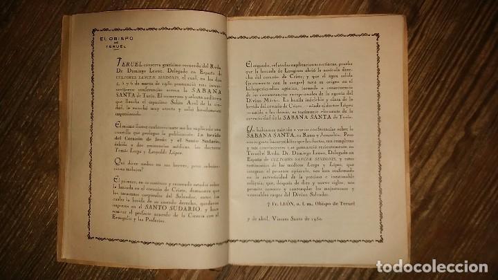 Libros de segunda mano: LA HERIDA DEL CORAZON DE JESUS . Comentario Medico - Legal sobre el Santo Sudario - Año 1950 - Foto 6 - 105060111