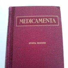 Libros de segunda mano: MEDICAMENTA - TOMO I - GUÍA TEÓRICO PRÁCTICA PARA FARMACÉUTICOS Y MÉDICOS.. Lote 105188143