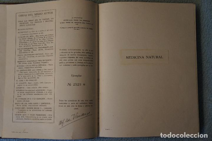 Libros de segunda mano: Medicina Natural Moderna Ciencia del Curar. Doctor Vander - Foto 7 - 105209467
