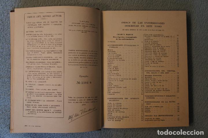 Libros de segunda mano: Medicina Natural Moderna Ciencia del Curar. Doctor Vander - Foto 8 - 105209467