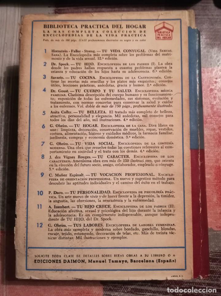 Libros de segunda mano: Tu cuerpo y tu salud - Dr. F. Goust - 1964 - Foto 2 - 106647031