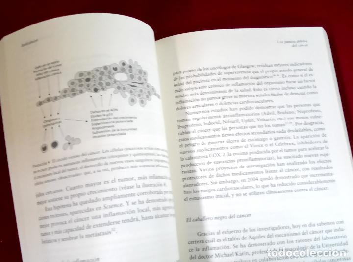 Libros de segunda mano: Anti Cáncer. Una nueva forma de vida - Dr. David Servan-Schreiber - Foto 3 - 107103099