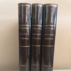 Libros de segunda mano: ANATOMÍA HUMANA. DESCRIPTIVA, TOPOGRÁFICA Y FUNCIONAL. TOMO I, II Y III. OBRA COMPLETA. Lote 108430146