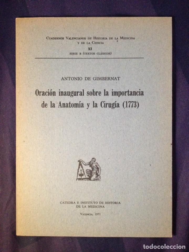 oración inaugural sobre importancia de la anato - Comprar Libros de ...