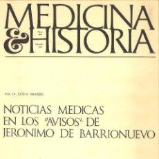 Libros de segunda mano: MEDICINA E HISTORIA. MAYO 1968 FASCÍCULO XLIV. . Lote 111989135