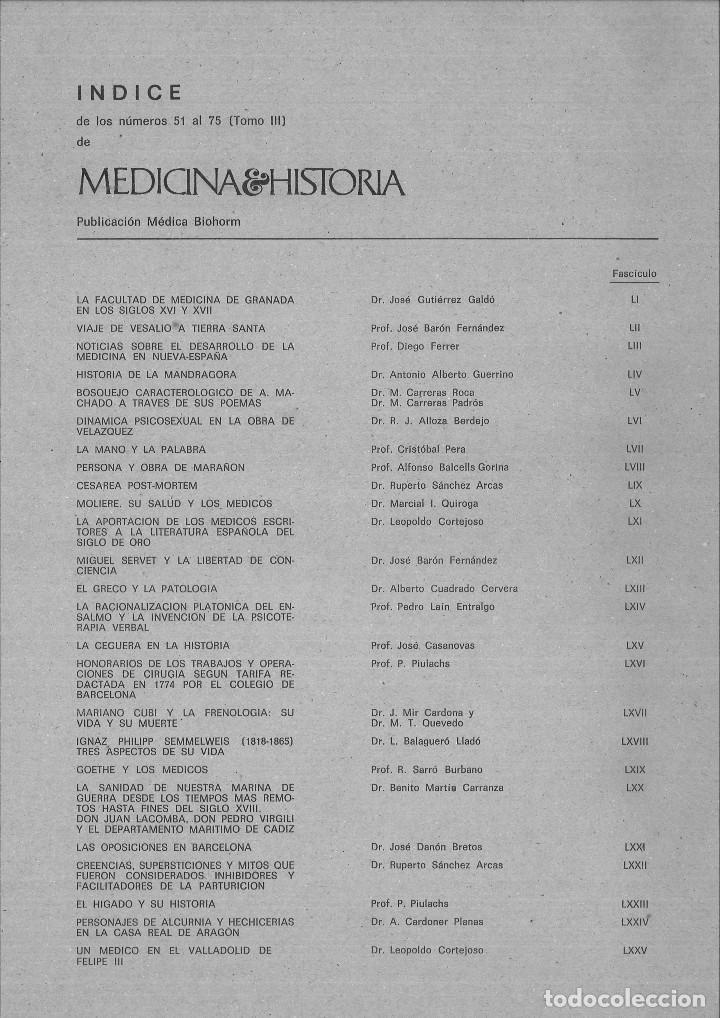 MEDICINA E HISTORIA. NÚMEROS 51 AL 75 (TOMO III) ENERO 1969 A MARZO 1971. 25 FASCÍCULOS. (Libros de Segunda Mano - Ciencias, Manuales y Oficios - Medicina, Farmacia y Salud)