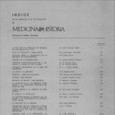 Libros de segunda mano: MEDICINA E HISTORIA. NÚMEROS 51 AL 75 (TOMO III) ENERO 1969 A MARZO 1971. 25 FASCÍCULOS.. Lote 111990415