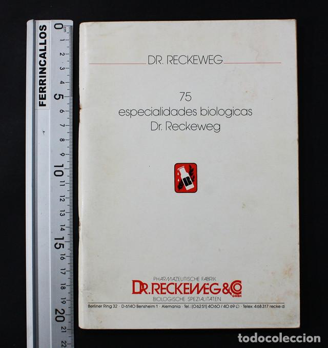 CURIOSO LIBRO CON DESCRIPCION DE 75 ESPECIALIDADES BIOLOGICAS DR RECKEWEG  50 PAG, MEDICINA FARMACO