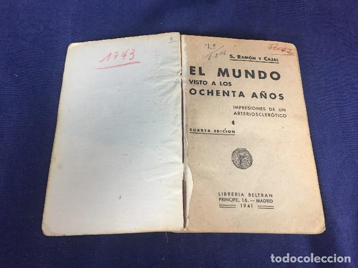 el mundo visto a los 80 años impresiones de un - Comprar Libros de ...