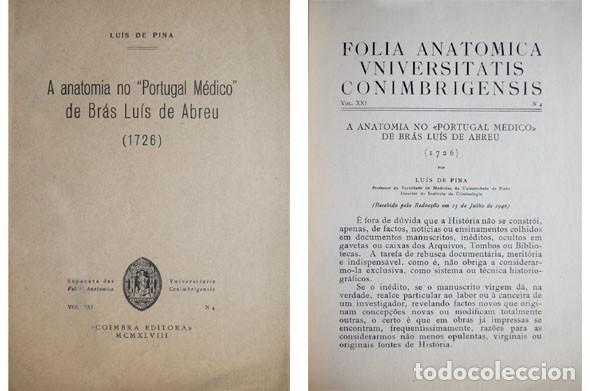 "pina, luís de. a anatomia no ""portugal médico"" - Comprar Libros de ..."
