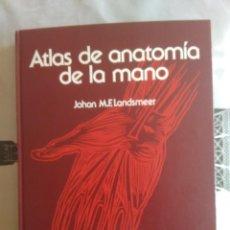 Libros de segunda mano: ATLAS DE ANATOMÍA DE LA MANO. JOHAN M. F. LANDSMEER. Lote 113320835