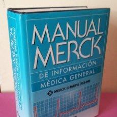 Libros de segunda mano: MERCK SHARP & DOHME - MANUAL MERCK DE INFORMACION MEDICA GENERAL - OCEANO 2005. Lote 113447563