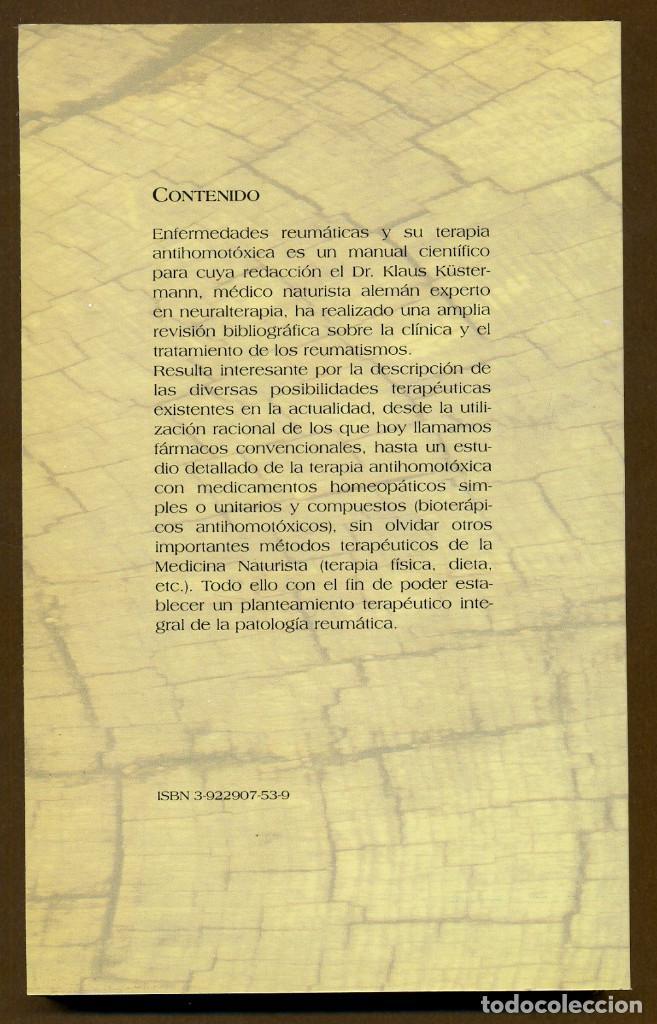 Libros de segunda mano: ENFERMEDADES REUMATICAS Y SU TERAPIA ANTIHOMOTOXICA - Foto 2 - 114730299