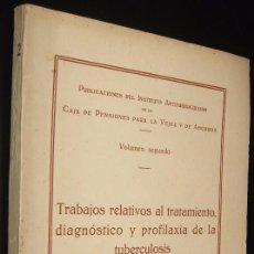 Libros de segunda mano: PUBLICACIONES DEL INSTITUTO ANTITUBERCULOSO - VOLUMEN II - ILUSTRADO * . Lote 116107183