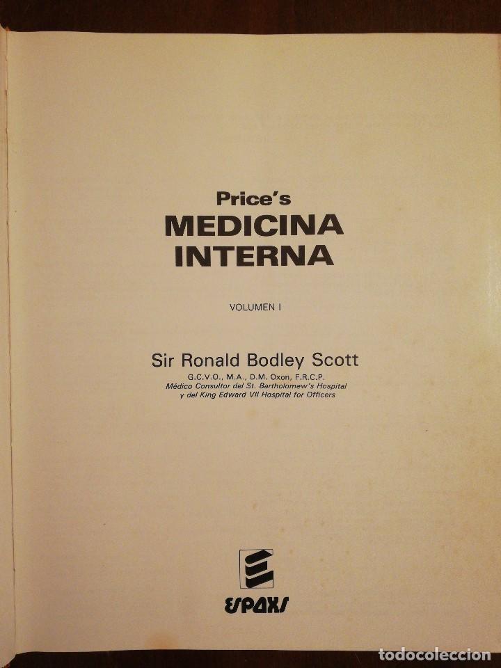Libros de segunda mano: Libro Prince's, Medicina Interna - Volumen I - Sir Ronald Boley Scott - Espaxs ediciones - Foto 3 - 117331147