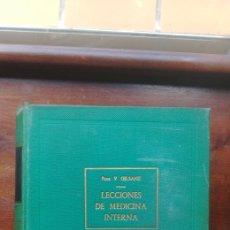 Libros de segunda mano: LECCIONES DE MEDICONA INTERNA PROF. V GILSANZ TOMO I APARATO CIRCULATORIO Y RESPIRATORIO. Lote 119864103