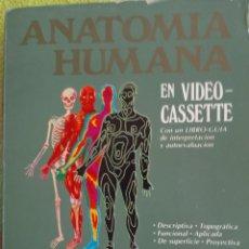 Libros de segunda mano: ANATOMÍA HUMANA VIDEO VHS CONTOMO ILUSTRADO CON FIGURAS , GRÁFICOS Y NOMENCLATURAS . Lote 120467971