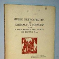 Libros de segunda mano: MUSEO RETROSPECTIVO DE FARMACIA Y MEDICINA DE LOS LABORATORIOS DEL NORTE DE ESPAÑA, S.A.. Lote 121518391