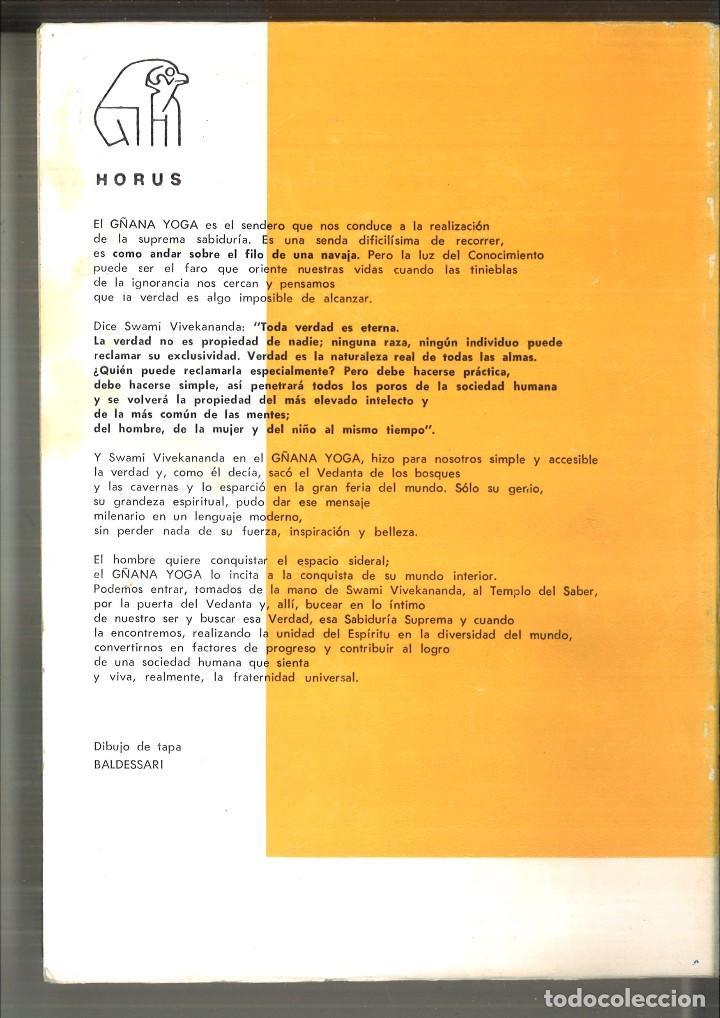 Libros de segunda mano: GÑANA YOGA. SENDERO DEL SUPREMO CONCIMIENTO. Swami Vivekananda - Foto 2 - 121719555