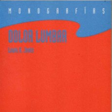 Libros de segunda mano: DOLOR LUMBAR - LOUIS G. JENIS - ILUSTRADO *. Lote 122650763