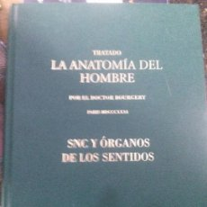 Libros de segunda mano: TRATADO LA ANATOMIA DEL HOMBRE ,SNC Y ORGANOS DE LOS SENTIDOS , DOCTOR BOURGERY. Lote 122792571