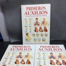 Libros de segunda mano: PRIMEROS AUXILIOS. ATLAS PRÁCTICO DE URGENCIAS MÉDICAS. 3 VOLÚMENES.- ED. CULTURAL. Lote 122983623