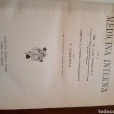 Libros de segunda mano: MANUAL PRÁCTICO DE MEDICINA INTERNA POR EL DOCTOR A VON DOMARUS 1930. Lote 123483175