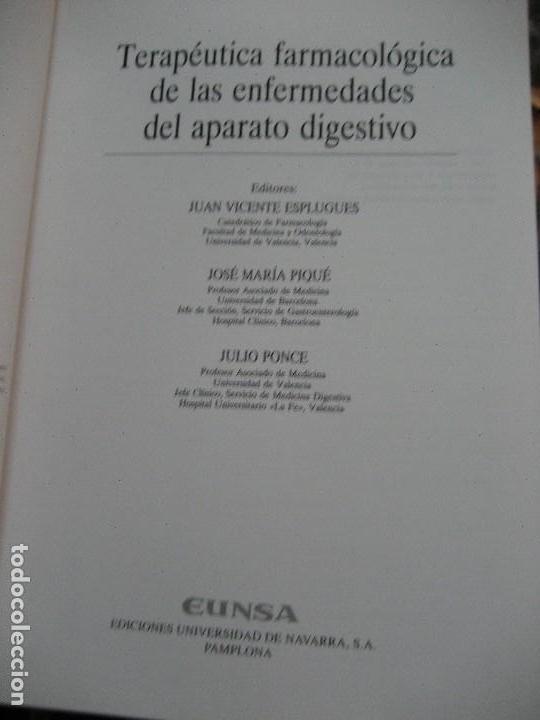 Libros de segunda mano: TERAPÉUTICA FARMACOLÓGICA DE LAS ENFERMEDADES DEL APARATO DIGESTIVO-medicina - Foto 4 - 177088509
