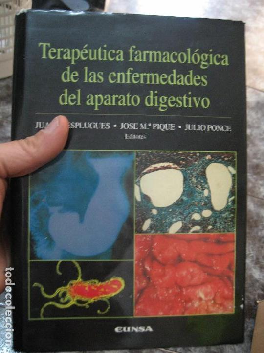 TERAPÉUTICA FARMACOLÓGICA DE LAS ENFERMEDADES DEL APARATO DIGESTIVO-MEDICINA (Libros de Segunda Mano - Ciencias, Manuales y Oficios - Medicina, Farmacia y Salud)