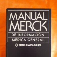 Libros de segunda mano: MANUAL MERCK DE INFORMACIÓN MÉDICA GENERAL. Lote 126261743